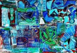 Broken Vessels: Blue Pitchers
