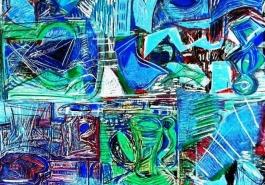 Broken Vessels: Blue Pitchers, DETAIL 2