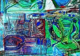 Broken Vessels: Blue Pitchers, DETAIL 1
