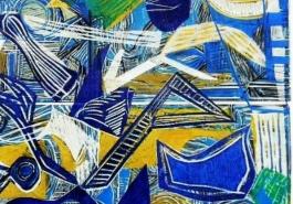 Broken Vessels: Blue and Gold, DETAIL 1