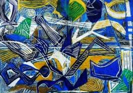 Broken Vessels:Blue and Gold