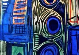 Blue Bottles Detail 2